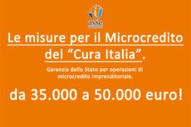 """Microcredito: le misure del """"Cura Italia"""". Ora fino a 50.000 euro"""